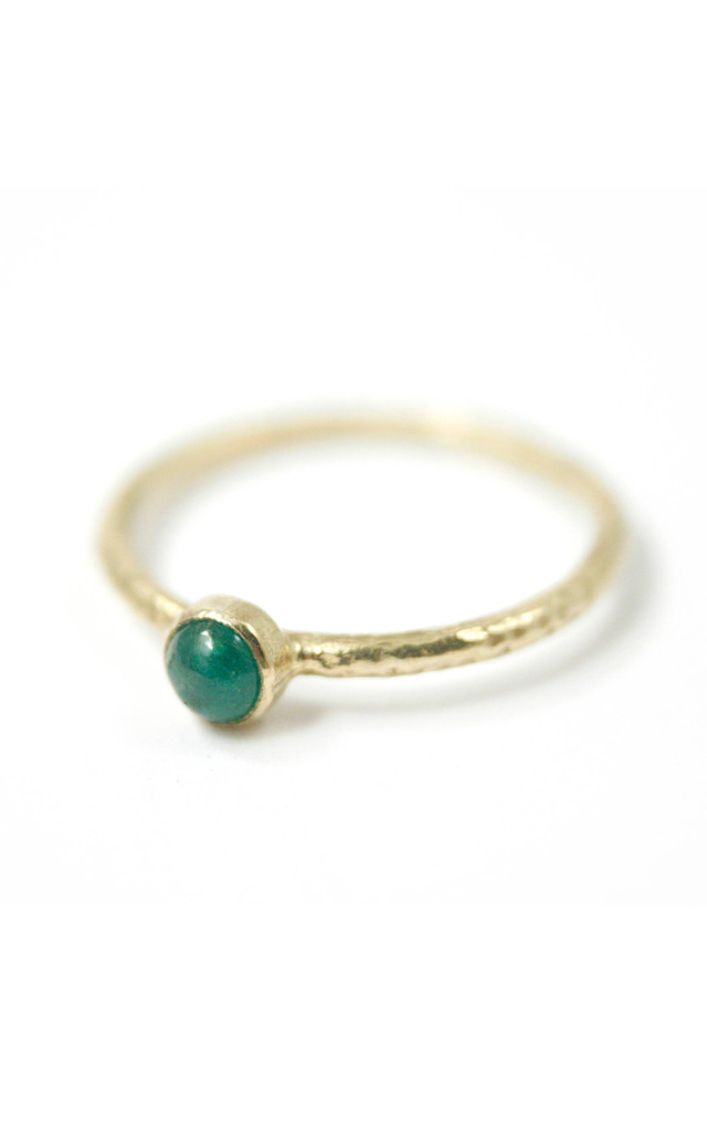 9ct Gold Emerald Stacking Ring by Frillybylily