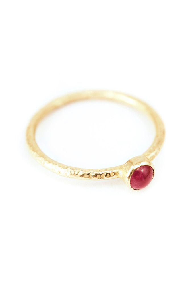 18ct Gold Ruby Engagement Ring by Frillybylily