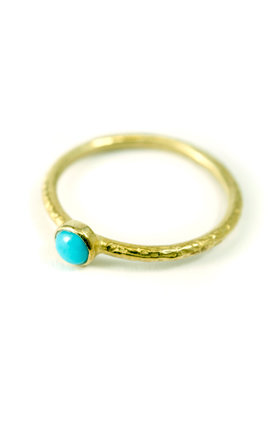 9ct Turquoise Stacking Ring by Frillybylily