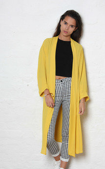 Mustard chiffon duster by Never Fully Dressed Product photo