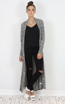 Madeline long mix knit cardigan by Dolly Rocka Product photo