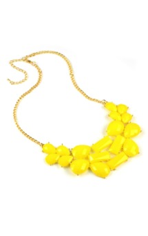 Yellow geometry necklace by Emi Jewellery Product photo