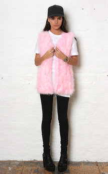 Pink fluff gilet by Never Fully Dressed Product photo