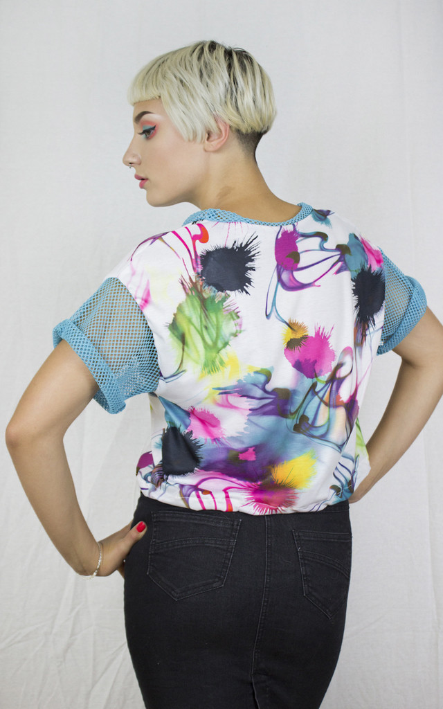 Handmade Paint Splodge Mesh Tee by Get Crooked