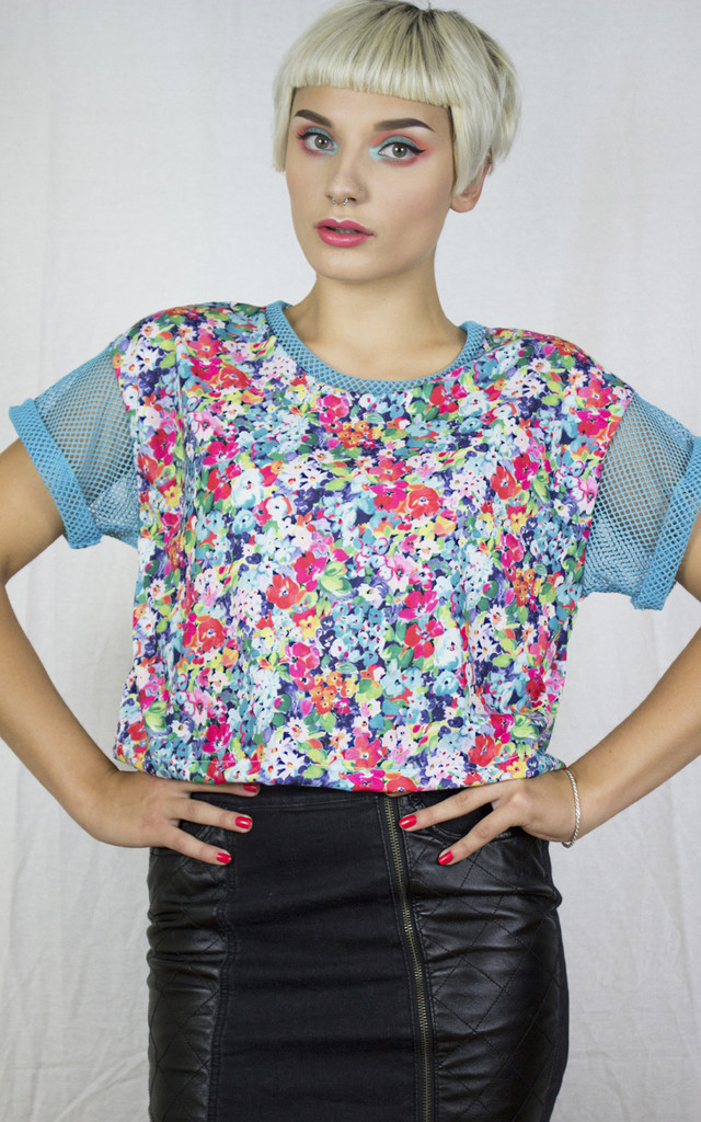 Handmade Floral Mesh Tee by Get Crooked