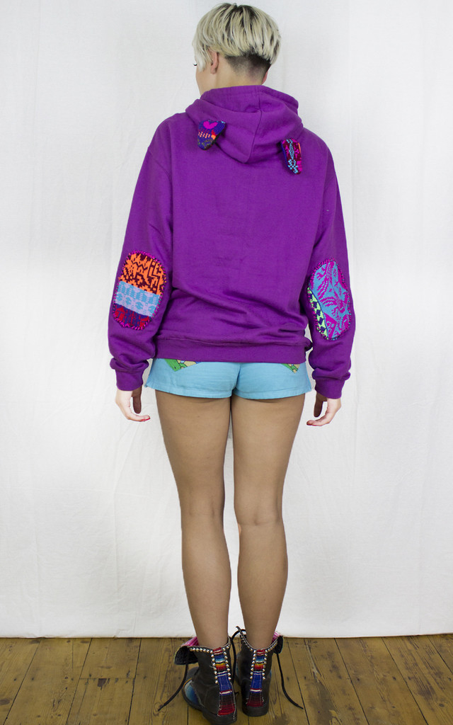 Handmade Purple Fairisle Hoodie by Get Crooked