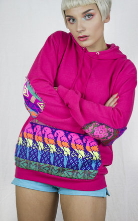Handmade Pink Fairisle Hoodie by Get Crooked