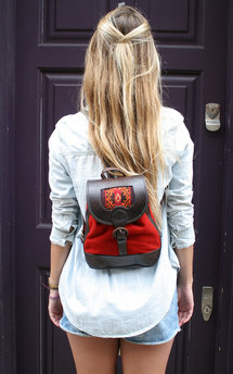 Bambina backpack - red by Beara Beara Product photo