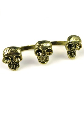 Triple skull knuckleduster  by Emi Jewellery Product photo