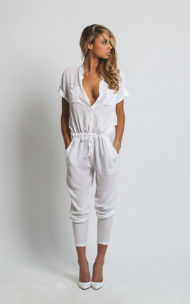 White h jumpsuit by Never Fully Dressed Product photo