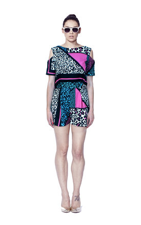 Liquorish madnimal multicoloured playsuit by Liquorish Product photo