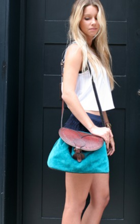 The tomina bag- turquoise by Beara Beara Product photo