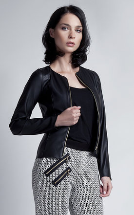Faux leather jacket by Lanti