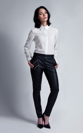 Leather trousers by Lanti Product photo