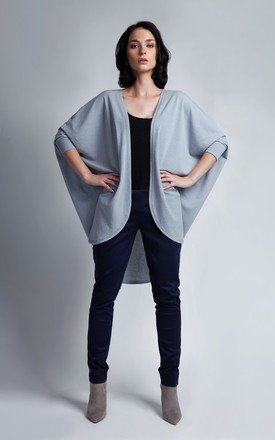 Gray oversize cape  by Lanti Product photo