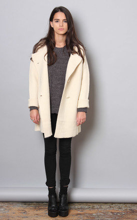 Cream wool cocoon cardi by Never Fully Dressed Product photo