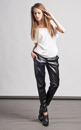 Eco-leather trousers by Lanti Product photo