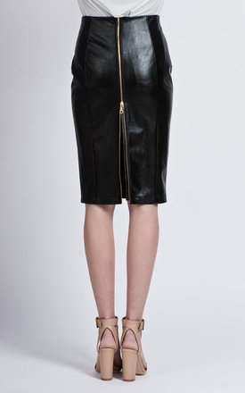 Eco-leather pencil skirt by Lanti Product photo