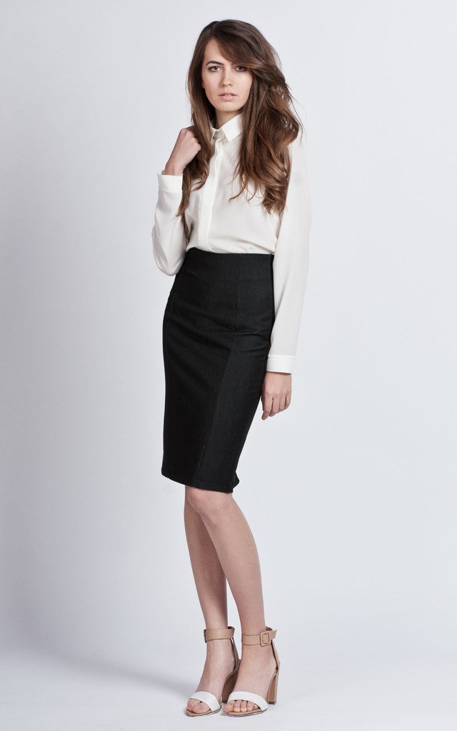 pencil skirt with zip silkfred