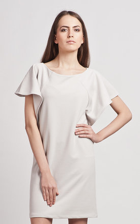 Grey dress with frills by Lanti Product photo