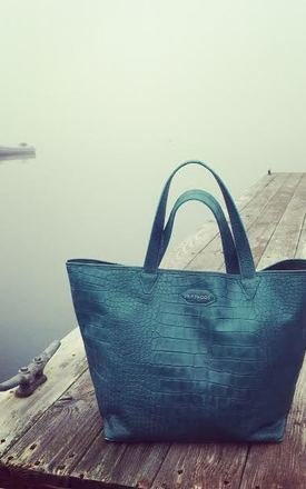 Cape tribulation crocodile effect leather tote by Driftwood Bags Product photo