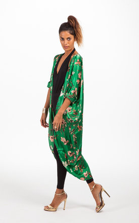 Silky cape in oriental green by Dancing Leopard Product photo
