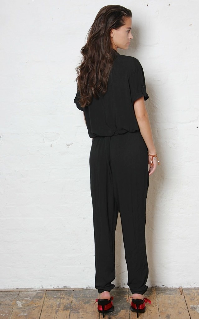 Black H Jumpsuit by Never Fully Dressed