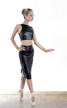 Leather pencil skirt by Etrala London Product photo