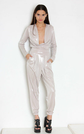 Silver jodie jumpsuit by Never Fully Dressed Product photo