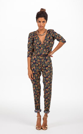 Stardust jumpsuit in pineapple print by Dancing Leopard Product photo