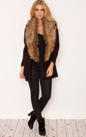 Luxurious faux fur boyfriend jacket by LullaBellz Product photo