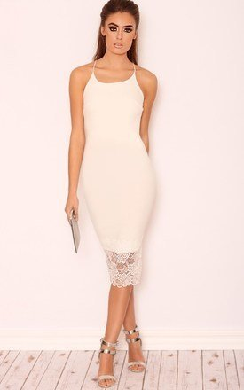 Crystal lace trim bodycon dress by LullaBellz Product photo