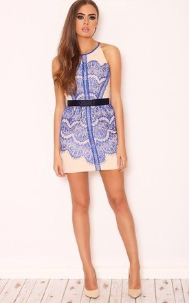 Alicia cobalt lace mini dress by LullaBellz Product photo