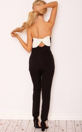 Bella bow detail jumpsuit by LullaBellz Product photo