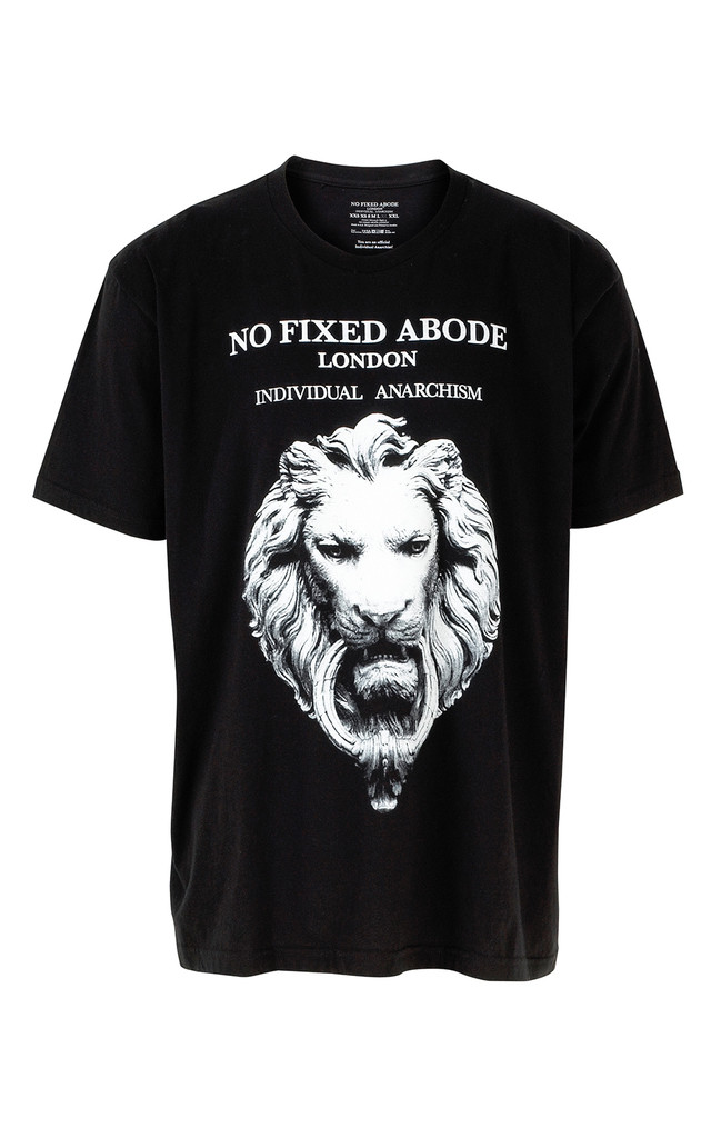 Individual Anarchism Lion Tee by NO FIXED ABODE