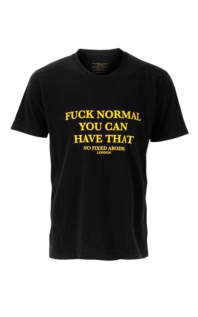 Fuck Normal Tee (crew-neck) by NO FIXED ABODE