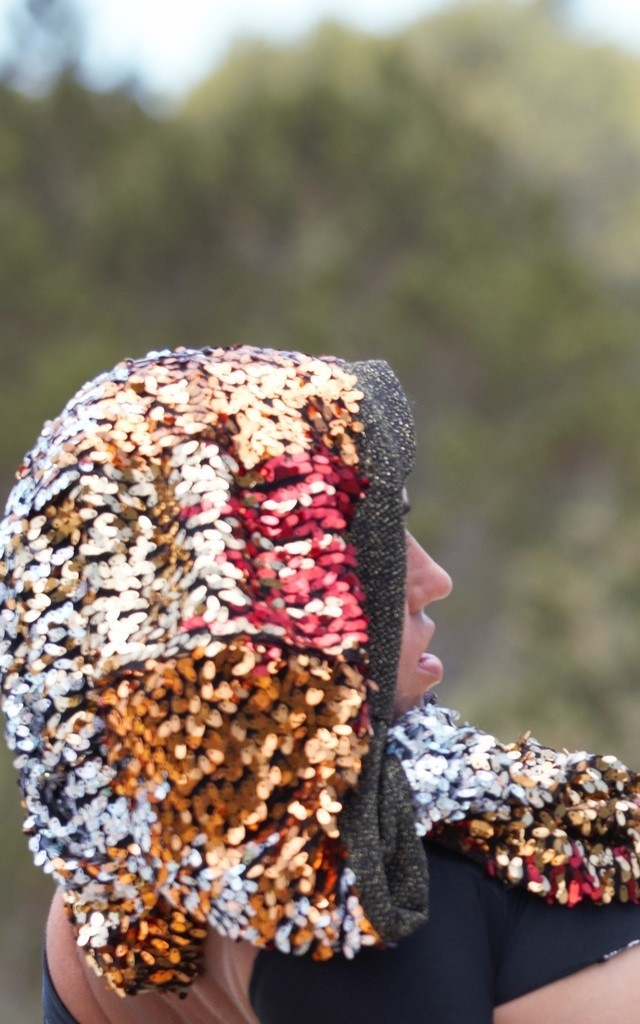 Ignis Star 4 colour sequin Snood by Wild Buffalo & Robe Unfold