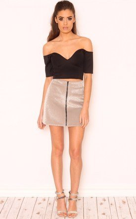 Clarissa sweetheart neckline crop top by Dolly Rocka Product photo