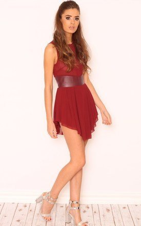 Kayleigh faux leather waist dress by Dolly Rocka Product photo