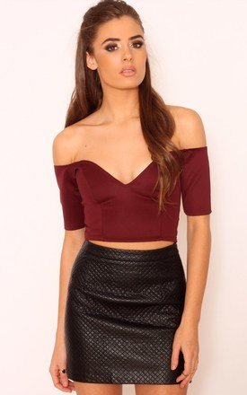Jaquie sweetheart neckline crop top by Dolly Rocka Product photo