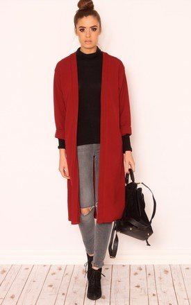 Xenia wine winter kimono jacket by Dolly Rocka Product photo