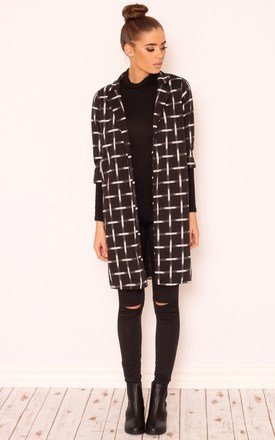 Hattie check print boyfriend jacket by Dolly Rocka Product photo