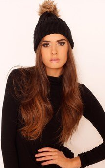 Jojo faux fur bobble hat by Dolly Rocka Product photo