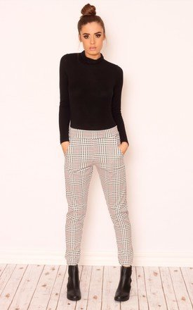 Trixie check jersey trousers by Dolly Rocka Product photo