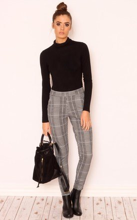 Stephanie check jersey trousers by Dolly Rocka Product photo