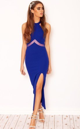 Adrianna cobalt mesh panel dress by LullaBellz Product photo