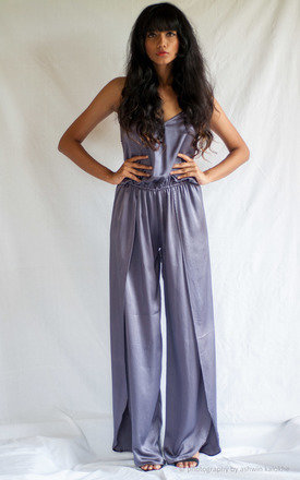 Cross back palazzo petal jumpsuit by TIA Product photo