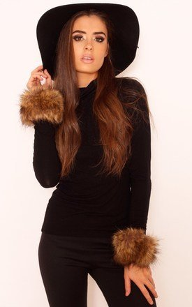 Jaz faux fur cuffs by LullaBellz Product photo
