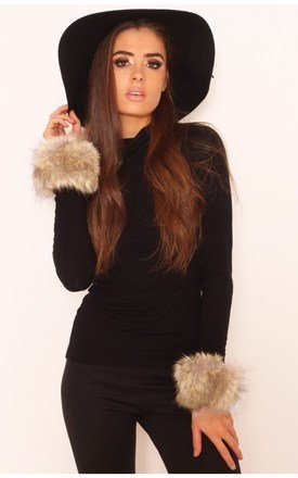 Annie faux fur cuffs by LullaBellz Product photo