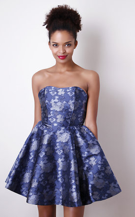 Blue metallic prom dress by Liquorish Product photo